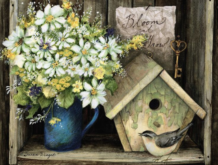 Birdhouse & Fence Deluxe Note Cards , 2080518 | Lang