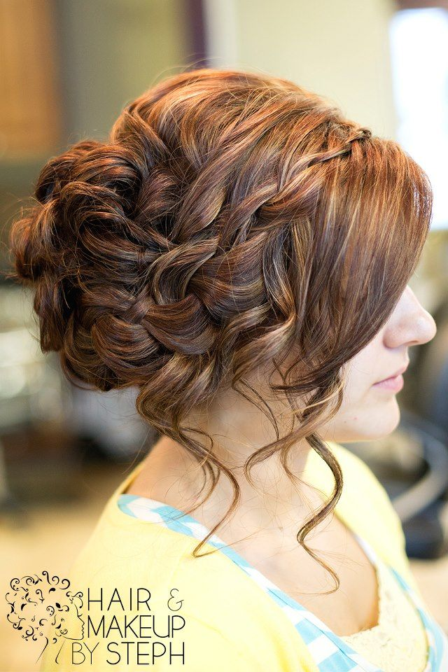 #updo #braids kt formal bridesmaid