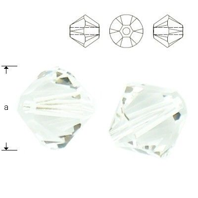 5328 Bicone 4mm Crystal 10 pieces  Dimensions: 4,0mm Colour: Crystal 1 package = 10 pieces