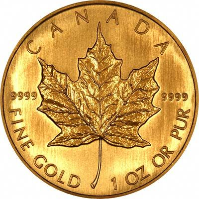 2008 Canadian One Ounce Gold Maple Leaf Coin
