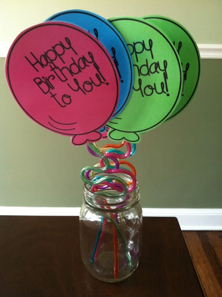 Happy Birthday Balloons- This is too cute to give away to students that are celebrating their birthday. It's not candy or a paper award they can toss.