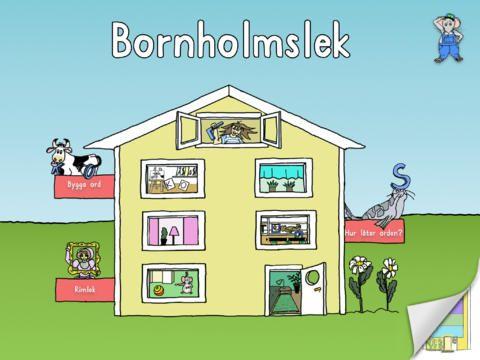 Appen Bornholmslek - appen lämpar sig för barn från fyra år och uppåt. Den passar lika bra i förskolan/förskoleklassen/skolan, som hemma. Tillsammans med en vuxen eller äldre läskunnig kamrat gör barnen upptäckter som får dem att förstå hur det går till att läsa. Låt samtalet stå i fokus.