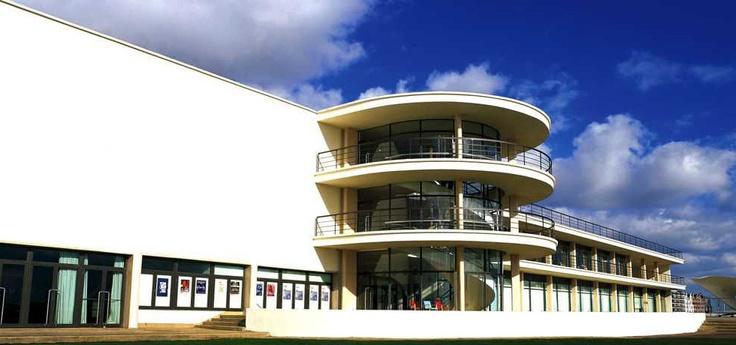 The art deco De La Warr Pavilion Marina, Bexhill On Sea, East Sussex