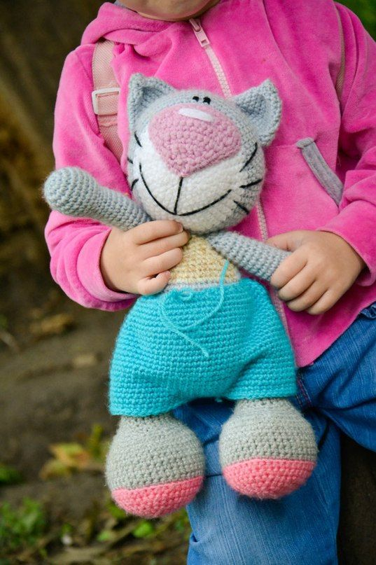 Crochet PATTERN Cat with a big nose 35 см by magicfilament on Etsy