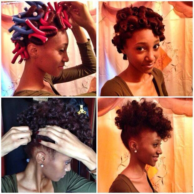 black hair pinup styles flexi rods hair and curls on 2280 | c8fa5b14e1bdf4eb721db62b196fd27b