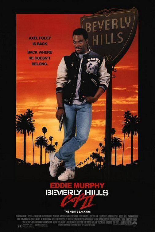 """Beverly Hills Cop II"" (1987). COUNTRY: United States. DIRECTOR: Tony Scott. CAST: Eddie Murphy, Judge Reinhold, Ronny Cox, Jurgen Prochnow, John Ashton, Brigitte Nielsen, Allen Garfield, Dean Stockwell"