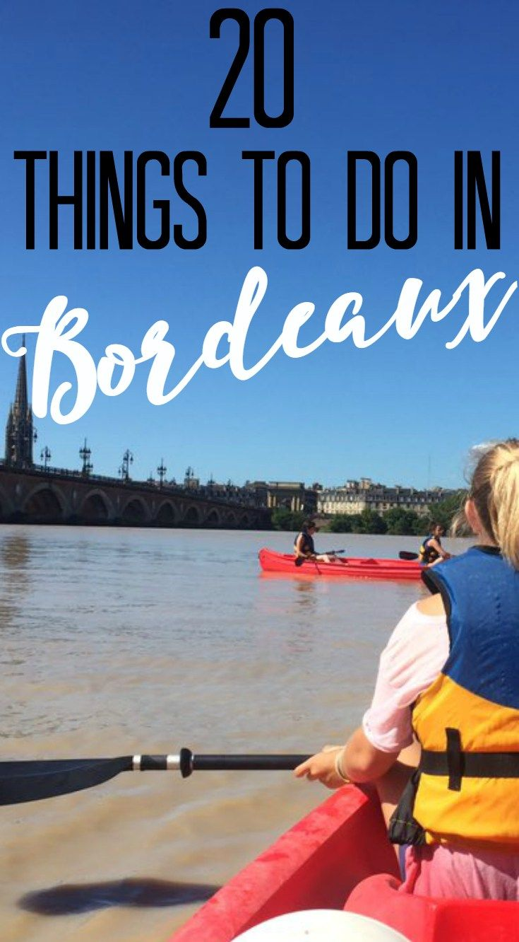 "Bordeaux was voted the Best European Destination of 2015, but why? Because Bordeaux is the most authentic city you will ever visit. With beautiful old architecture down every street and welcoming locals, I could spend a lifetime here. And it is still up and coming! The Sister-Post to this post is: ""20 Things To SEE In Bordeaux"" click here to read it!   20 Things To Do In Bordeaux: 1. Kayak the Garonne Don't get caught on a tourist bus, see the city from the river! Bordeaux is built along…"