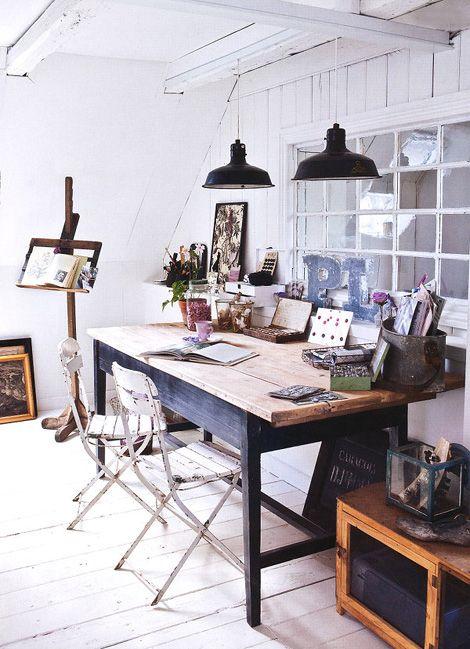 Diez escritorios con encanto bohemio