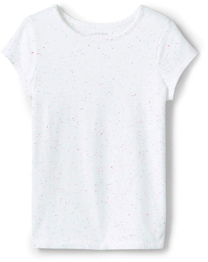 4a0a8f1a941458 Lands'end Toddler Girls Rainbow Sprinkles Tee Shirt  #construction#durable#flecks