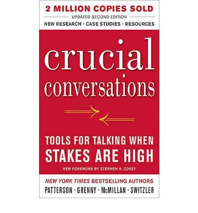 Focuses on those defining moments that literally shape our lives, our relationships, and our world. This book is exploded onto the scene and revolutionized the way millions of people communicate when stakes are high.