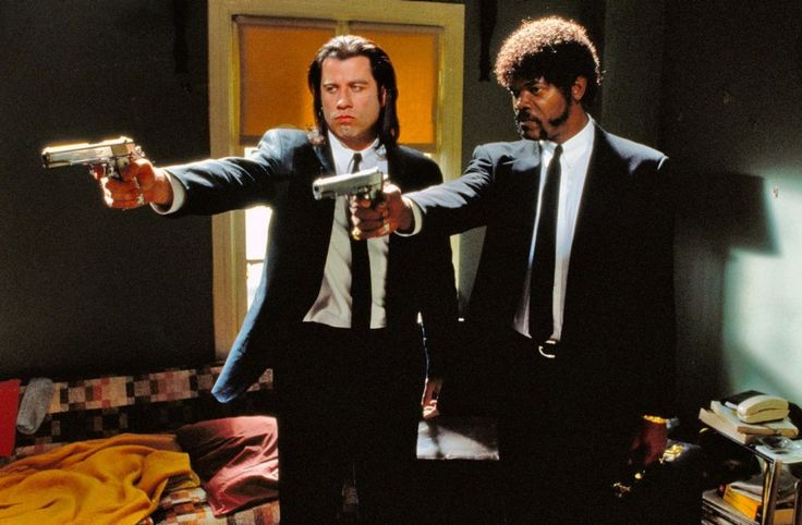 I would use this as a wallpaper.    Photos: The Making of Pulp Fiction in Stills, Snapshots, and Script Pages | Vanity Fair