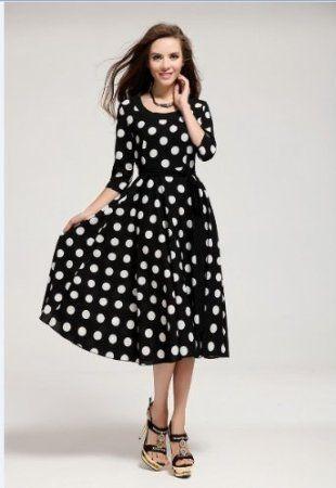 Amazon.com: New Women Korean sun hemp sleeve big swing skirt (S): Beauty