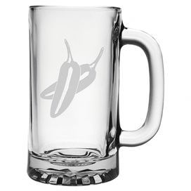 "Bring Southwestern style to your kitchen or home bar with this charming glass beer mug, featuring a sand etched chili pepper detail.   Product: Set of 4 mugsConstruction Material: GlassColor: ClearFeatures:  Each decoration is sand etched into the surface by hand in a 110+ year old factory in PennsylvaniaMade and decorated in the USA16 Ounce capacity Dimensions: 5.13"" H x 3.25"" DiameterCleaning and Care: Dishwasher safe"