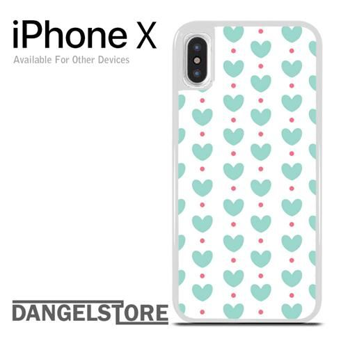 Heart in Light Blue For iPhone X