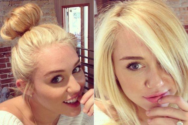 Miley Bun & Long Bob - Hairstyles How To | Haircuts ...