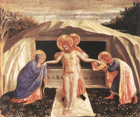 """anastpaul:  """" Holy Saturday – 15 April – The Lord's descent into hell   The Creed proclaims """"He descended into Hell."""" This homily for Holy Saturday from the 4th Century treats of the """"harrowing of hell"""" and the rescue of Adam and Eve. Note the..."""