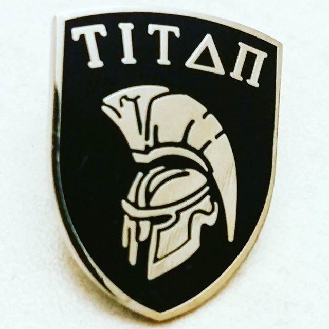 Titan Shield pin badges we recently produced #enamelpins #pinbadges #pingame #pingamestrong