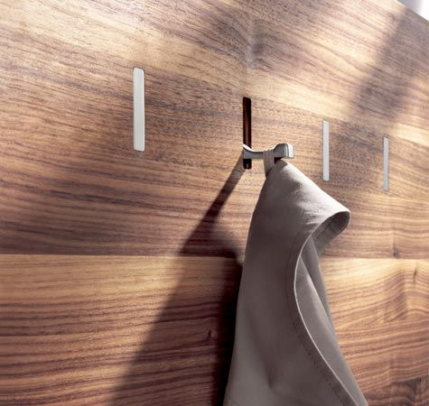 What a cool coat rack. I love how the hook blends into the wood. www.wharfside.co.uk