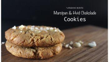 Verdens Bedste Marcipan & Hvid Chokolade Cookies