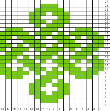 Tricksy Knitter Charts: 18 stitch repeat celtic knot (74872) (74896)