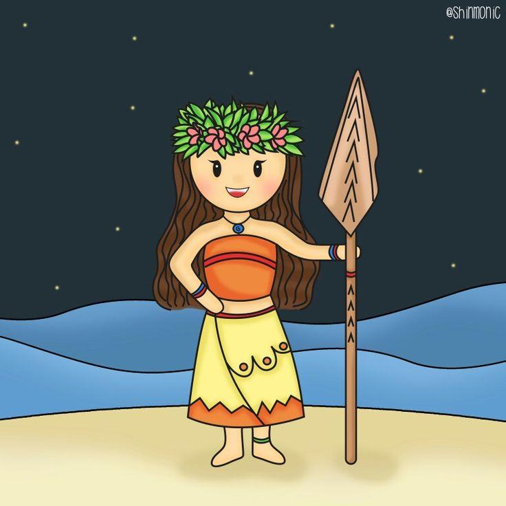 Moana 💕🌑🏝🌊  #moana #illustration #character