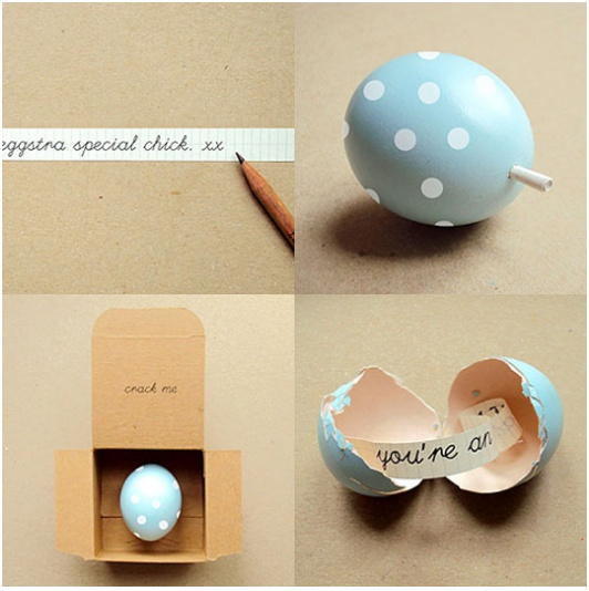 Egg note - super cute.