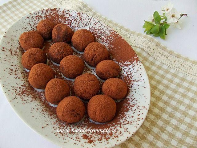 Trufe de ciocolată Dukan, un desert extrem de simplu si delicios, dar mai ales aromat, ciocolatos si dietetic.