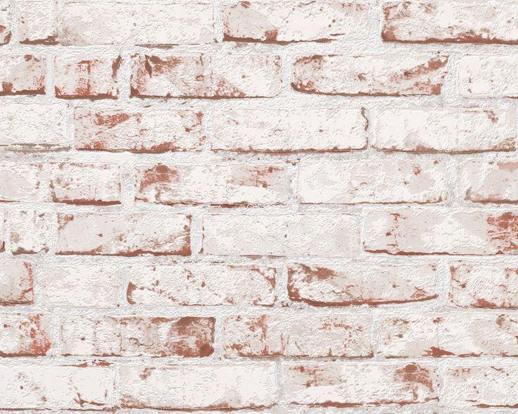 A.S. Création Tapete 907813: Tapete, Beige, Braun, Rot, Modern, Flur, Küche, Wohnen, Wohnzimmer