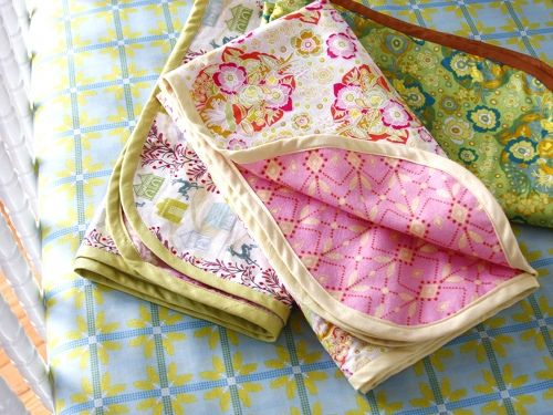 Easy Receiving Blankets W Bias Binding By Anna Maria