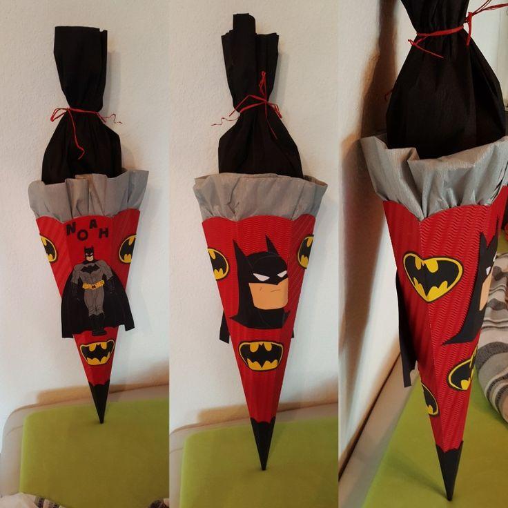 Batman Schultüte / Zuckertüte Selbst gebastelt Made by Svenja