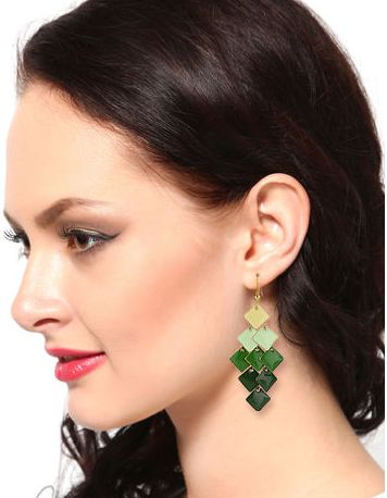 Buy Miss Bennett Green Enamelled Women Earrings @ Rs.311. The enamel work adds a glamorous touch to the overall look of these earrings.