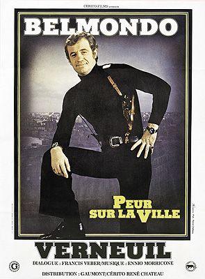 affiche film jean-paul belmondo - peur sur la ville