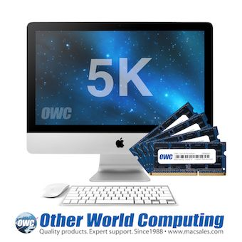 MacSales.com has OWC memory upgrade kits with up to 64GB for the new 27-inch iMac