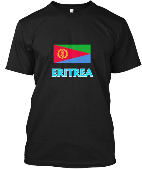Eritrea Flag Classic Blue Design Black T-Shirt Front - This is the perfect gift for someone who loves Eritrean. Thank you for visiting my page (Related terms: I Heart Eritrea,Eritrea,Eritrean,Eritrea Travel,I Love My Country,Eritrea Flag, Eritrea Map,Eritrea  #Eritrean, #Eritreanshirts...)