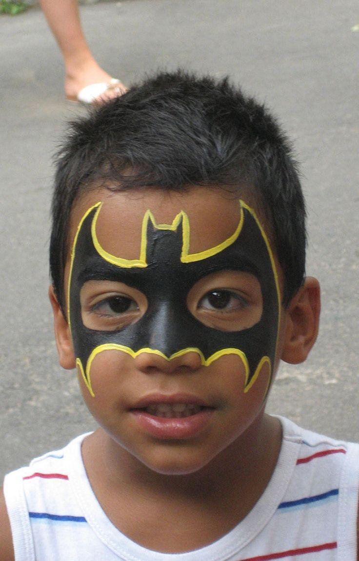 kinderschminken jungen motive batman  #makeup  #fasching