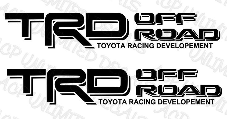 TRD Off Road Decals Vinyl Stickers 1 PAIR / SET Toyota Tundra Tacoma Truck  #acpunlimited