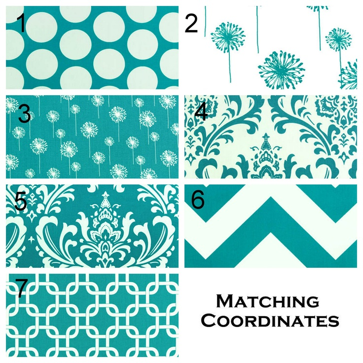 Pair of Drapery Panels Premier Prints Turquoise by Modernality2, $125.00