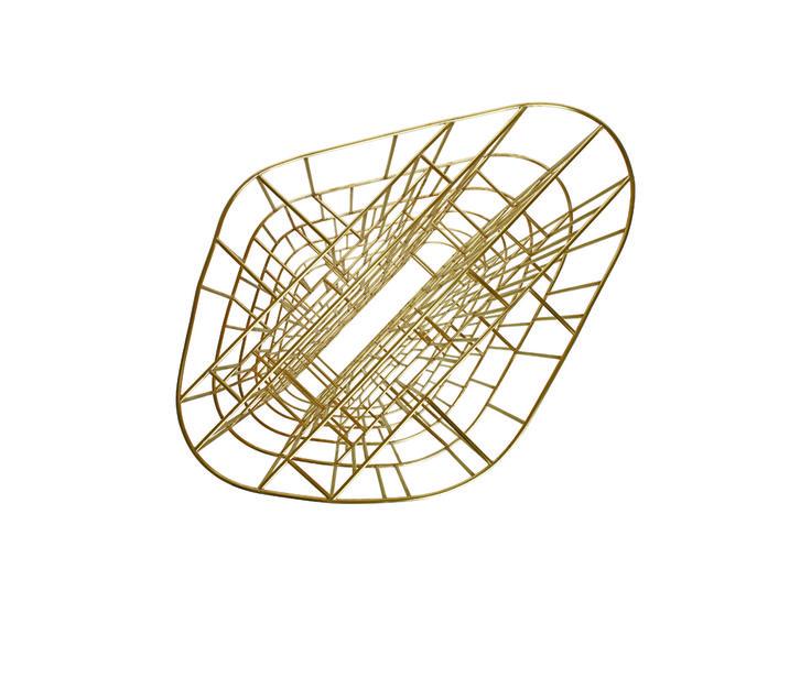 Golden Cage bookcase by Ceccotti Collezioni. Available at Showroom MOOD. #mood #ceccotti #goldencage #gold #bookcase