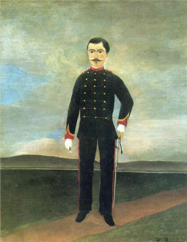 Marshal des Logis Frumence Biche of the 35th Artillery - Henri Rousseau, c.1893