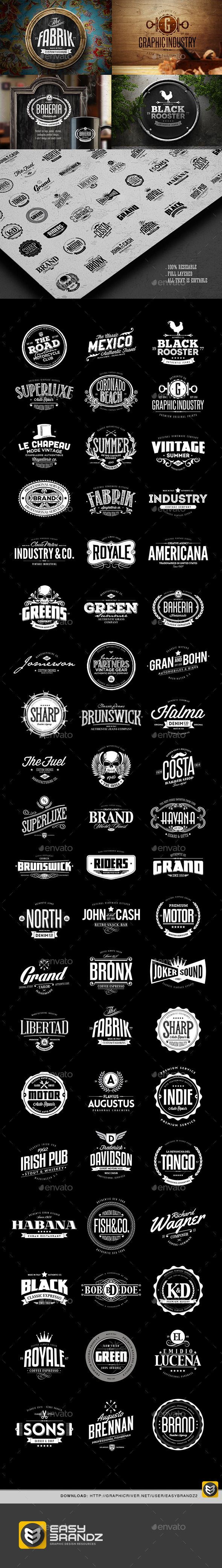 60 Badges & Logos Collection Template #design Download: http://graphicriver.net/item/60-badges-logos-collection/12418420?ref=ksioks