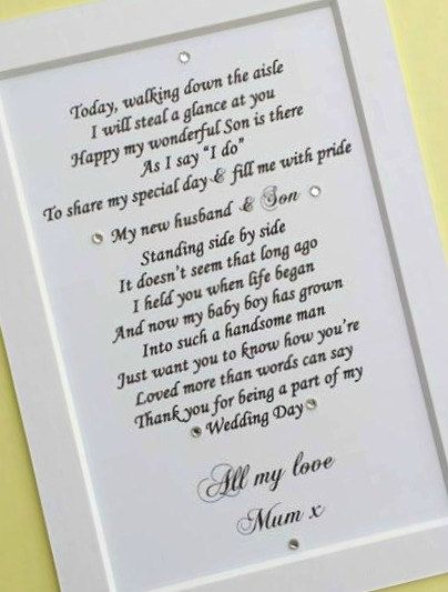 Gift for son on wedding day uk
