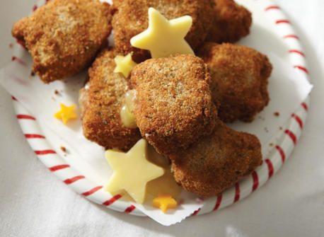 Chicken and Cheddar medallions
