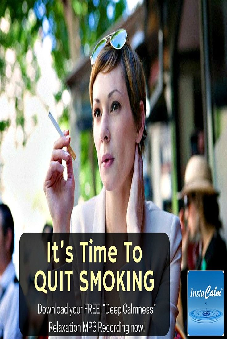 """It's Time To Quit Smoking  If your smoking is strickly out of habit, its possible that hypnosis can cancel your desire to smoke at your first session. Read more http://instacalmhypnosis.com/quit-smoking/  Hypnosis Can Help You Cancel Your Desire to Smoke.  Download your FREE """"Deep Calmness"""" Relaxation MP3 Recording now! Go to: http://instacalmhypnosis.com/stress-relief/  #QuitSmoking #HealthyLife #StressFree"""