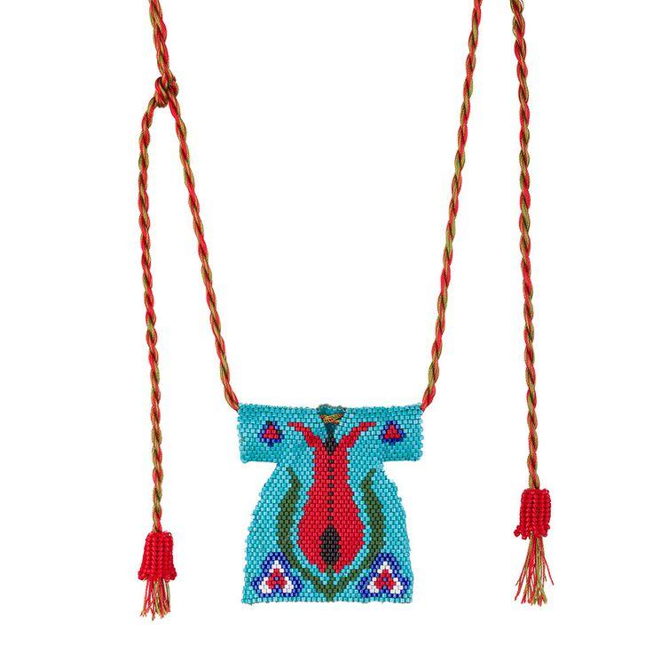 Beaded Kaftan Necklace, Caftan Miyuki Necklace,Brickstitch Caftan Necklace, Kaftan Beadwork by SinezarHandmade on Etsy https://www.etsy.com/listing/261915065/beaded-kaftan-necklace-caftan-miyuki