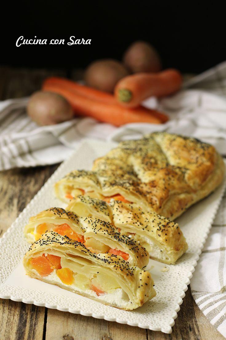RUSTICO VELOCE CON PATATE E CAROTE, semplice ma ricco di gusto! Ricetta completa qui: http://blog.giallozafferano.it/cucinaconsara/rustico-veloce-pasta-sfoglia/