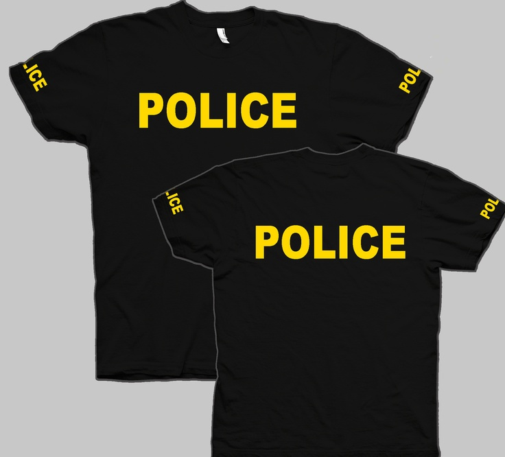 101 best images about we 39 re having a party police on for Order custom t shirts in bulk