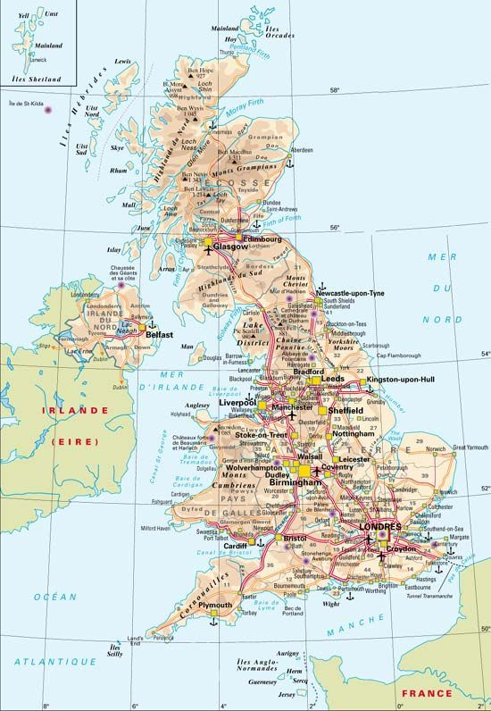 Carte Royaume  Uni