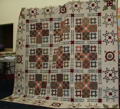 A Civil War quilt . . . I love this one.