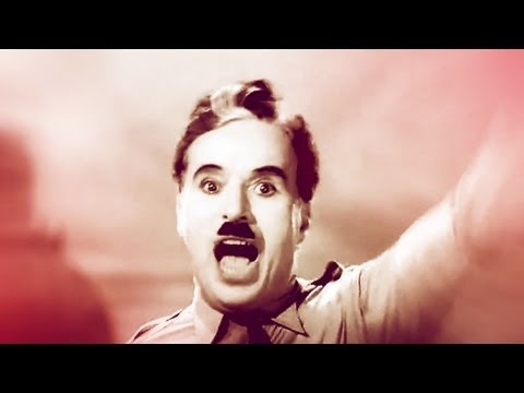 Charlie Chaplin - Let Us All Unite! Chaplin's famous speech becomes song. Excellent!! The original speech: http://www.youtube.com/watch?v=QcvjoWOwnn4
