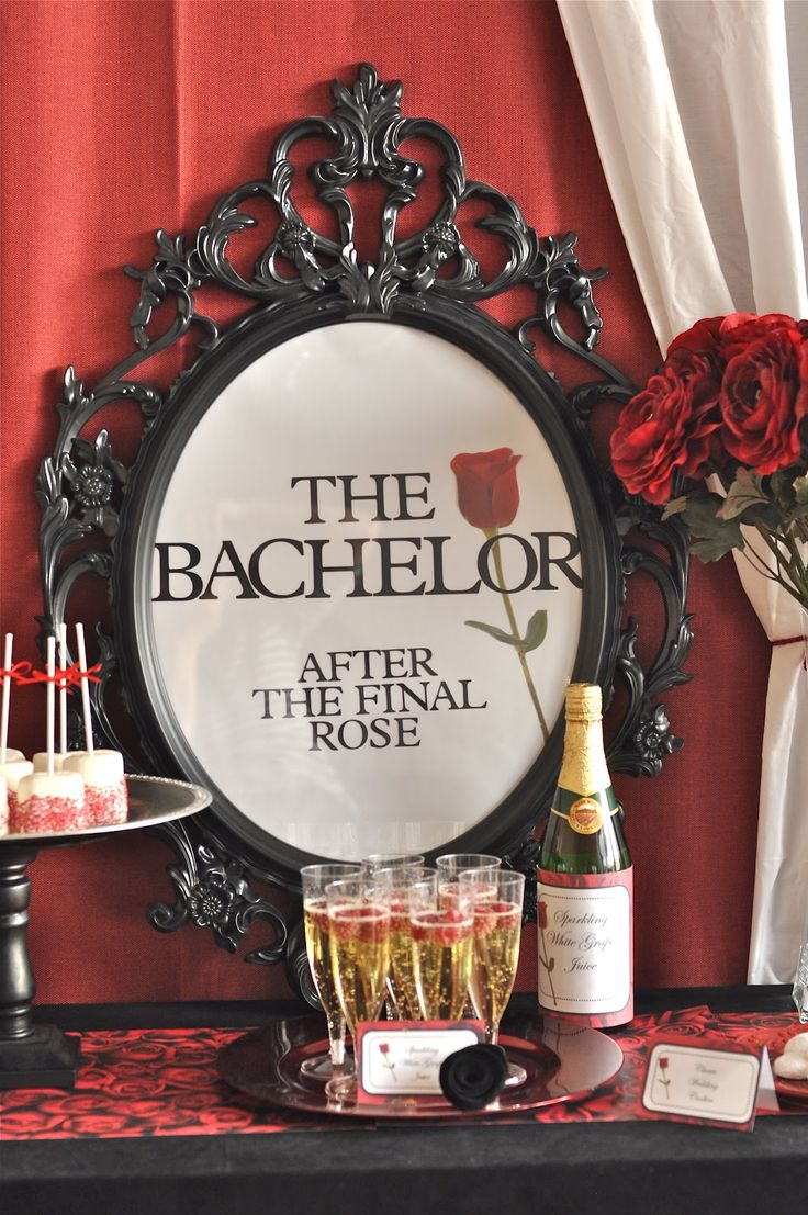 """{OUR PARTIES} ABC's """"the bachelor"""" do you watch the bachelor? i'm sort of obsessed… this is a bachelor party that i recently styled for an AWESOME party designers challenge with SPARKLING EVENTS & DESIGNS the theme was """"favorite tv shows"""" and the budget was $100 we were asked to style a party & we competed agains …"""
